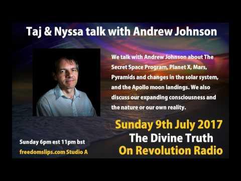 Taj & Nyssa talk with Andrew Johnson on The Divine Truth on Revolution Radio