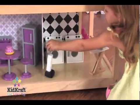 Kidkraft casa de mu ecas barbie bratz polly pockets youtube - Arreglar la casa de barbie ...