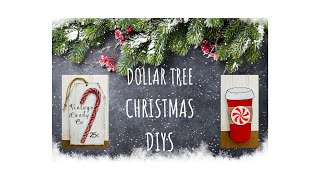 2 Dollar Tree Christmas DIYS  |  Peppermint Theme Decor