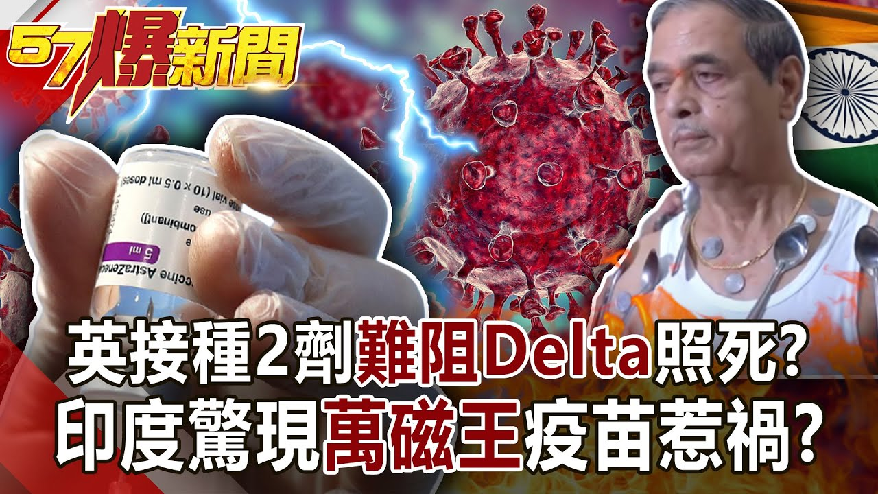 英接種2劑難阻Delta照死? 印度驚現「萬磁王」疫苗惹禍?!-黃暐瀚 徐俊相《57爆新聞》網路獨播版-1900 2021.06.15