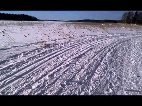On the way to office. On the frozen lake in Finland (Päijänne) March 2013