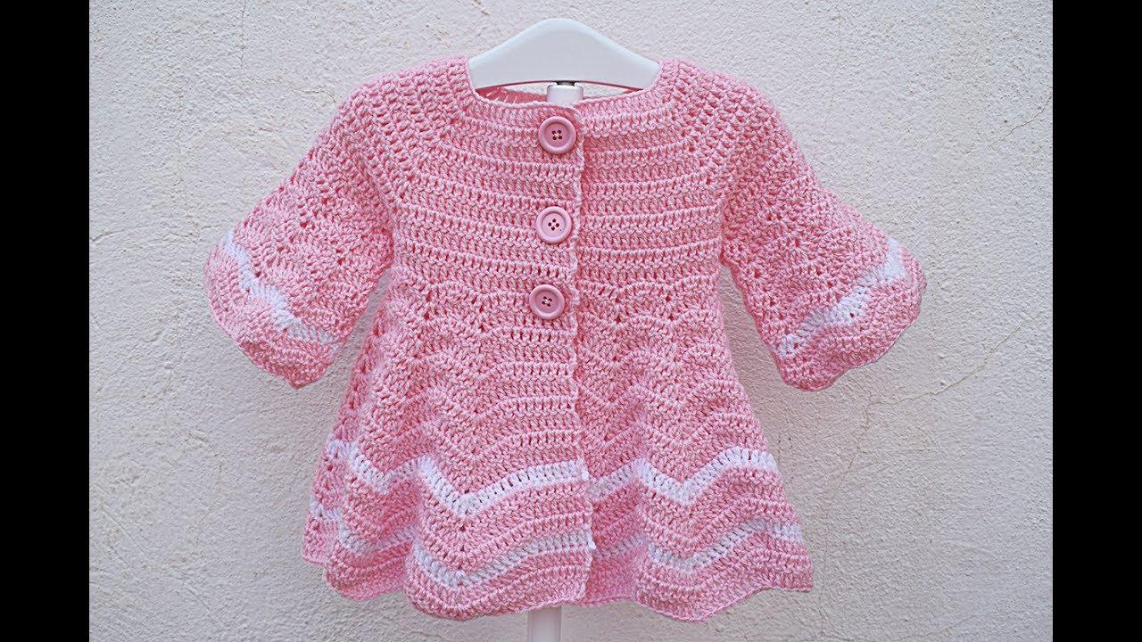 How To Make A Girls Crochet Coat Very Easy - Youtube-5470