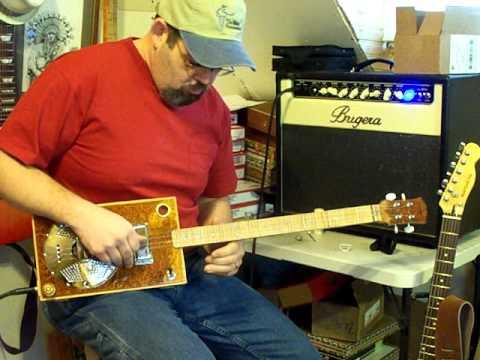 Back Porch Mojo ,cigar box resonator guitar
