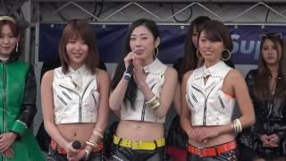 【J'S RACING】レースクイーン 【最強】の「美女軍団」。 左から→上島と...