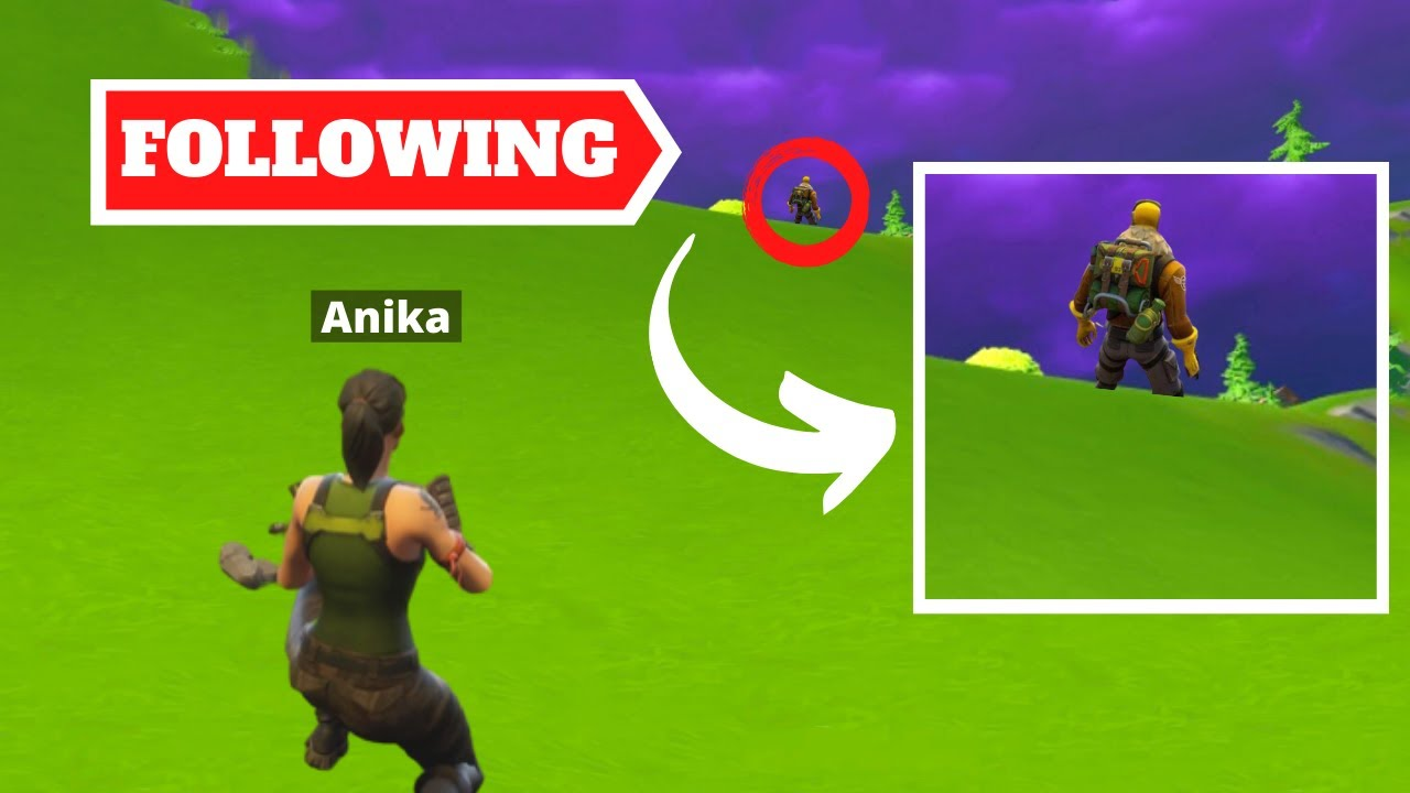 FOLLOWING A RANDOM PERSON IN FORTNITE   Season 2 Chapter 2 FORTNITE CHALLENGES