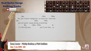 Easy Lover - Philip Bailey & Phil Collins Bass Backing Track with scale, chords and lyrics