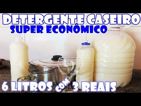 Com R$ 3,00 reais você faz 6 litros de DETERGENTE CASEIRO - Fácil e Econômico - Fran Adorno