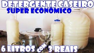 Com R$ 3,00 reais você faz 6 litros de DETERGENTE CASEIRO – Fácil e Econômico