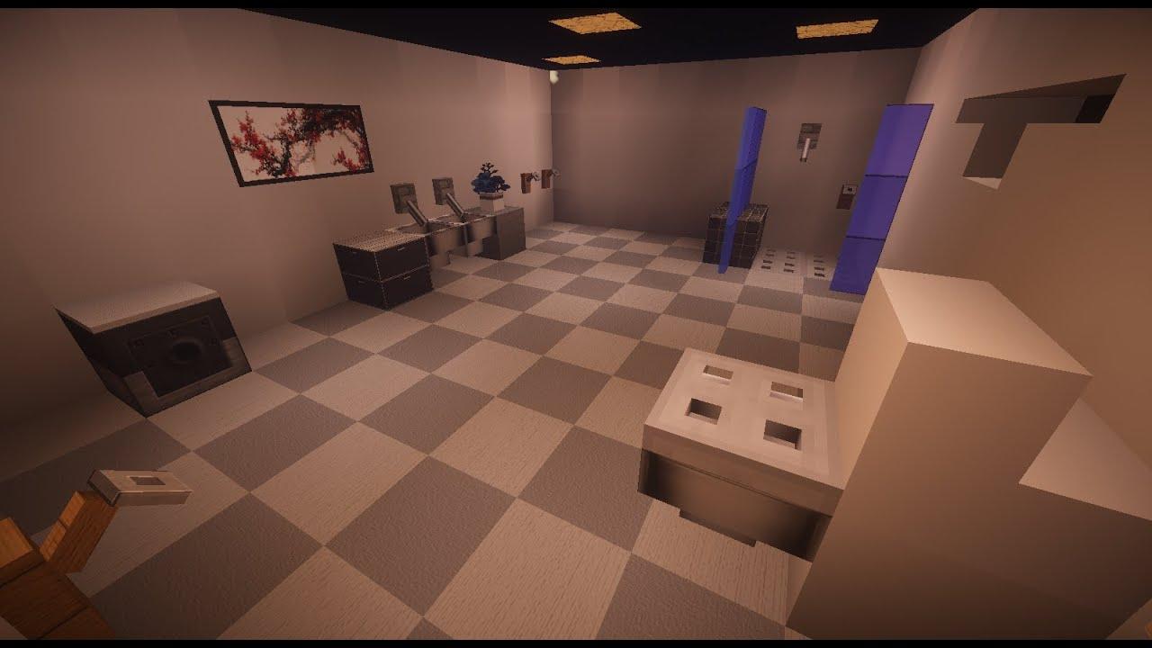 Tutoriel Salle De Bain Moderne Sur Minecraft Youtube