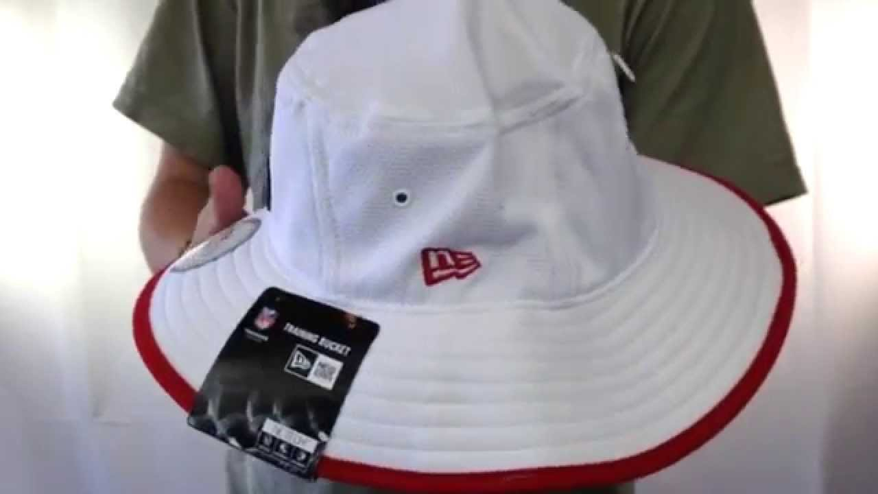 49ers  2014 NFL TRAINING BUCKET  White Hat by New Era - YouTube a8c4f197736