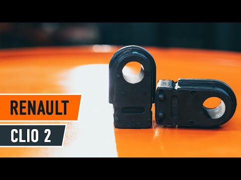 How to replaceFront stabilizer bushesonRENAULT CLIO 2 TUTORIAL | AUTODOC