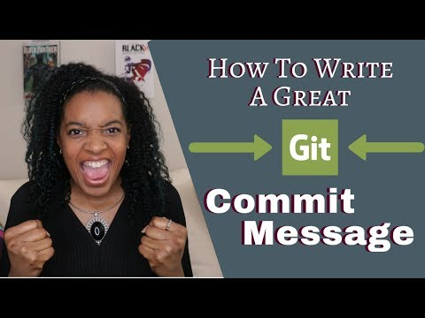 How to Write a Great Git Commit Message