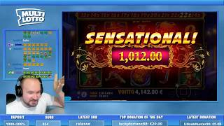 Mega Big Win From Da Vinci's Treasure Slot!!