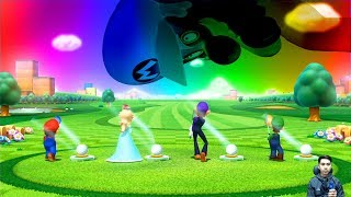 Mario Party 10 - All Minigames Mario Vs Luigi Vs Rosalina Vs Waluigi #3
