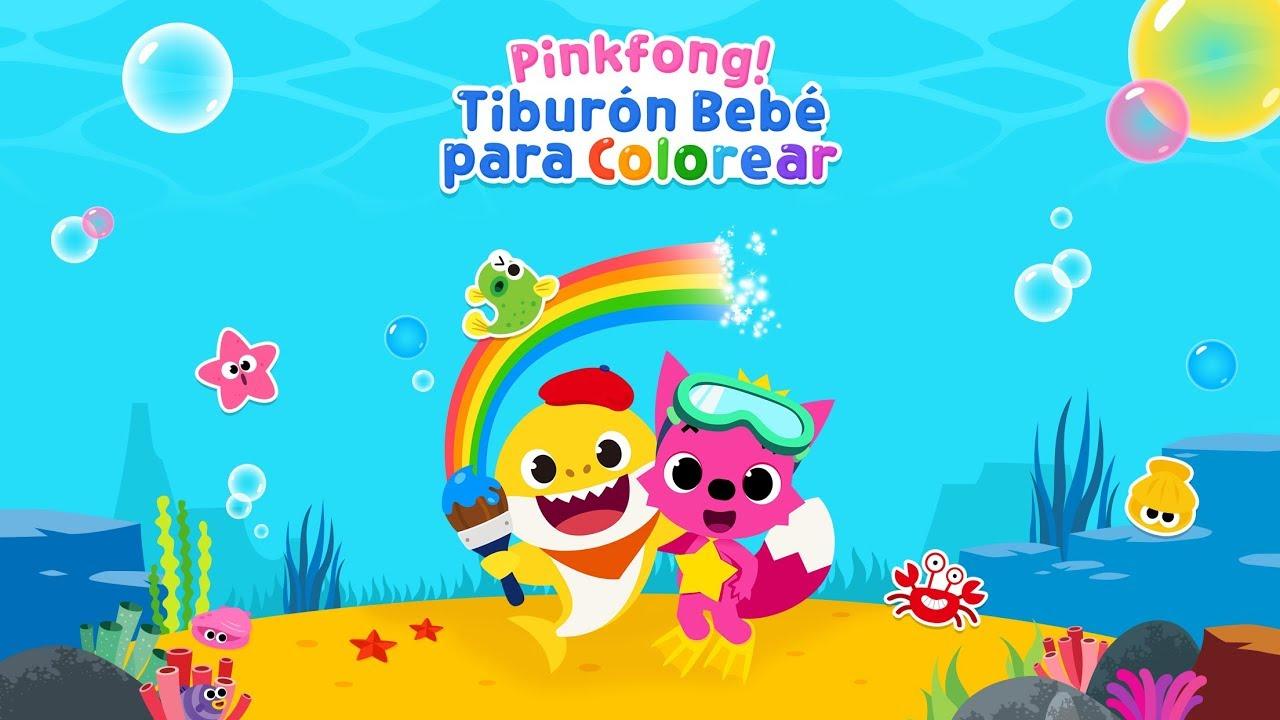 App Trailer Pinkfong Tiburon Bebe Para Colorear Youtube