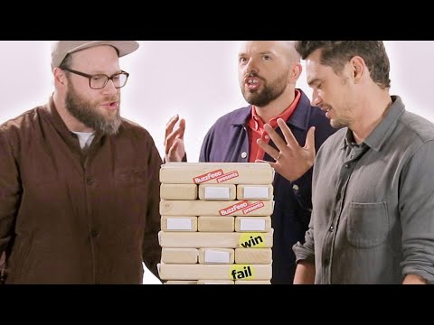 "The Cast of ""The Disaster Artist"" Play Truth or Dare Jenga"