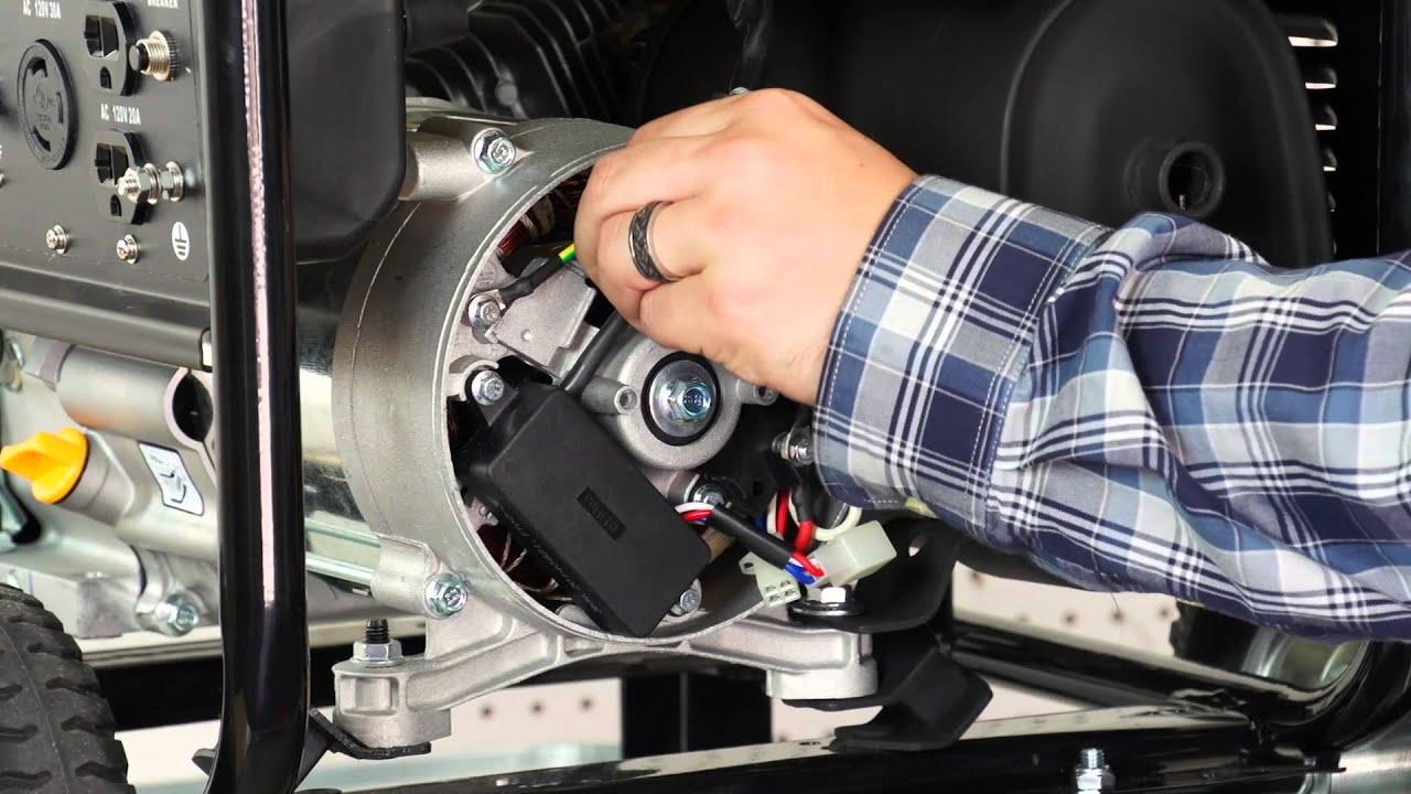 DuroStar 4000S Generator AVR & Brush Assembly