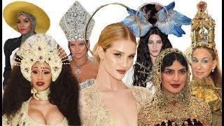 Met Gala 2018. Все самые роскошные головные уборы: короны, тиары и нимбы.
