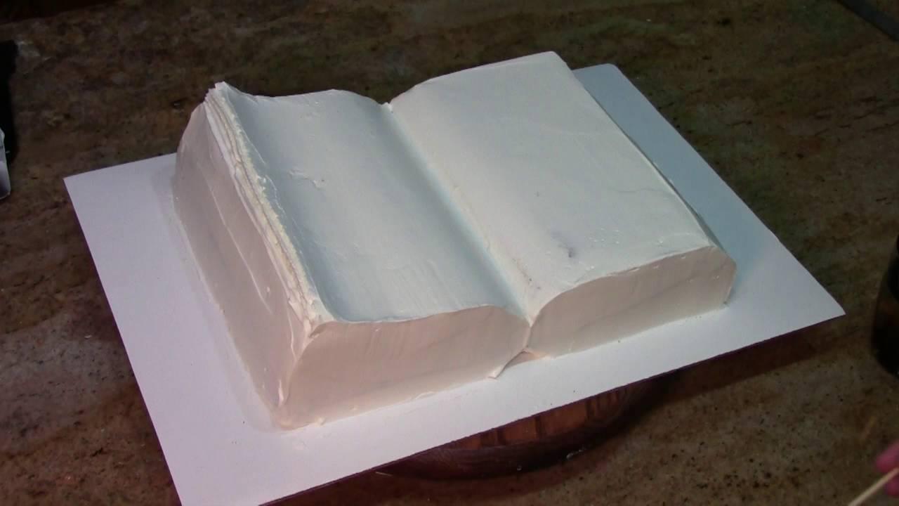 How To Make A Book Cake : How to make a book cake decorating youtube