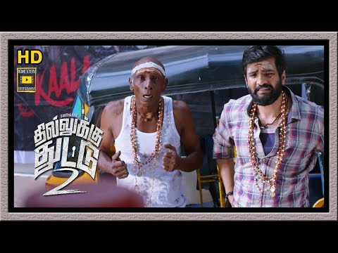 Dhilluku Dhuddu 2 Full Movie | Santhanam and Mottai Rajendran Return from Sabari malai