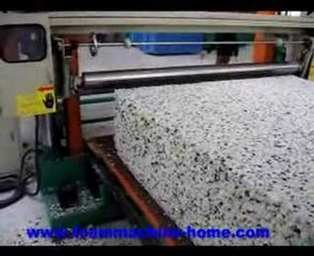 foam rebonding machine - bonded foam line