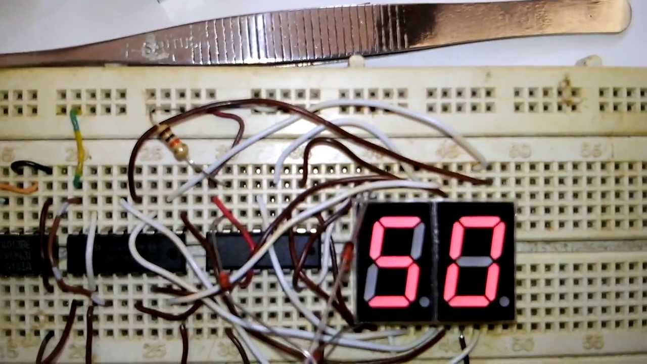 1 Hz Clock With 7 Segment 60 Second Using 4060 4013 4026 And Electronics Circuit Free Electronic Timer Circuits 4060b Some Diode Youtube