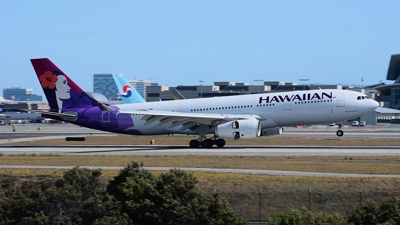 Hawaiian Airlines Airbus A330-200 [N370HA] Landing at LAX ...
