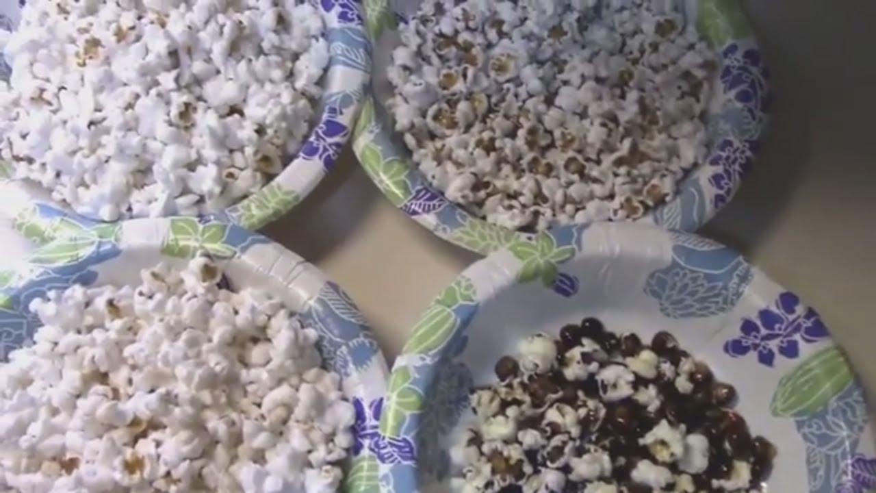 Popcorn Test Glass Gem Corn Vs Grocery Store Popcorn And Indian