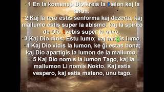 Esperanto with Bible. First grammar rules