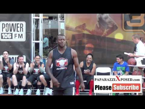Edwin Hodge at the 5th Annual Nike Basketball 3ON3 Tournament at LA Live in Los Angeles