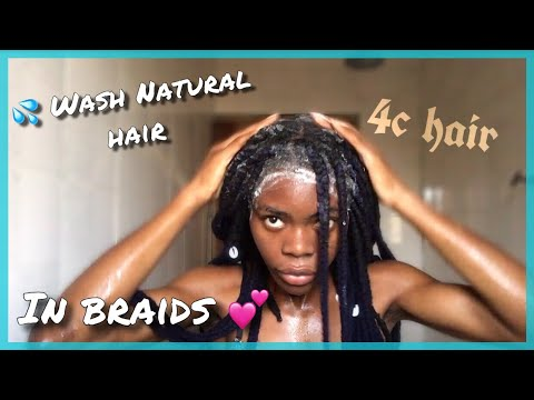 How To Wash Your Braids (YARN Extensions/Protective Styles)