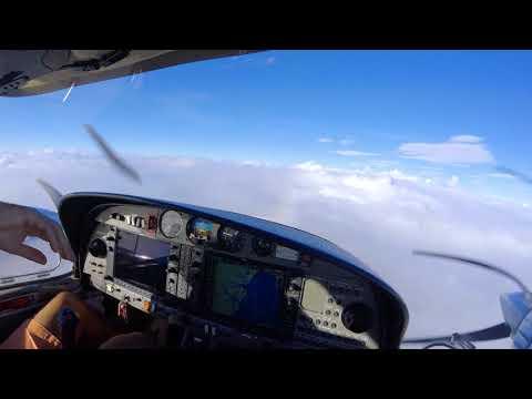 Flying : Ft. Pierce FL KFPR to Charleston Exec. SC KJZI Diamond DA42 TwinStar : In-Flight Rain & ILS