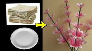 Wow !!! Thermocol plate flower stick ll DIY