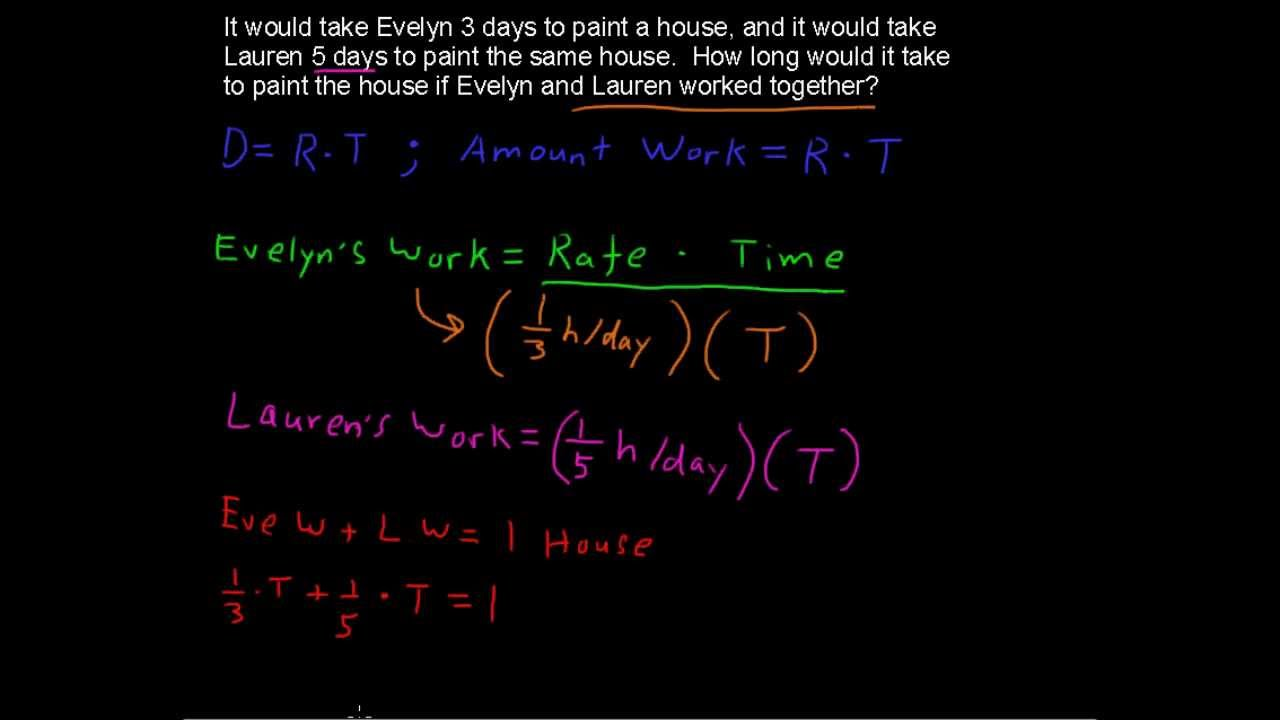 how to solve work problems college algebra tips how to solve work problems college algebra tips