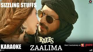 Zaalima Karaoke feat. Shahrukh Khan Mahira Khan