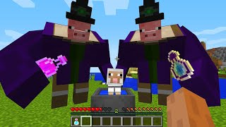 CURSED MINECRAFT BUT IT'S UNLUCKY LUCKY FUNNY MOMENTS PIG WITCH AND SHEEP