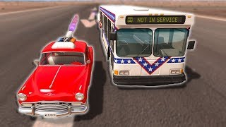 ROCKET BUS VS ROCKET CAR DRAG RACE! - BeamNG Drive UPDATE