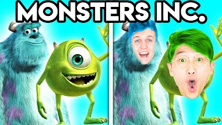 MONSTERS INC WITH ZERO BUDGET! (Funny Disney PARODY By LANKYBOX!)