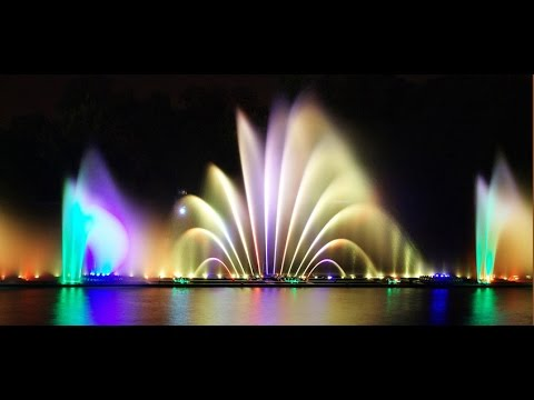 The World greatests dancing fountains.King Abdullah Park Riyadh