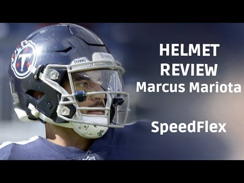 sports shoes bc8cd b2102 Helmet Review - Marcus Mariota SpeedFlex