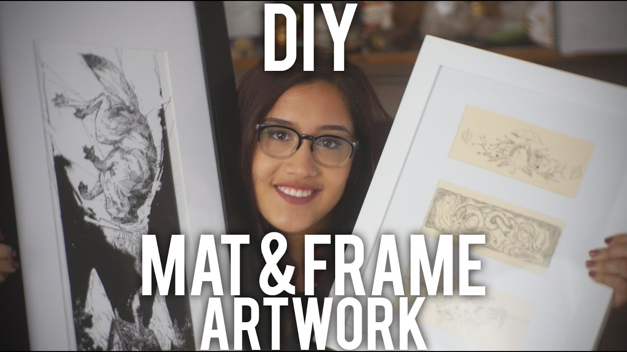 How to Mat and Frame Artwork : DIY - YouTube