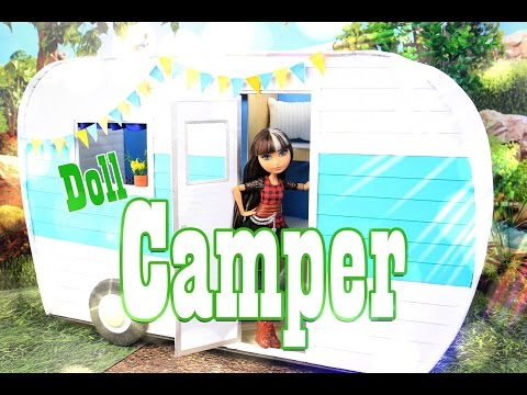 DIY - How to Make: Doll Camper - EXTREME - Handmade - Crafts
