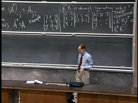 Lec 5 | MIT 18.06 Linear Algebra, Spring 2005
