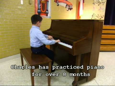 Chuckie Plays Piano at Moore Elementary School Talent Show