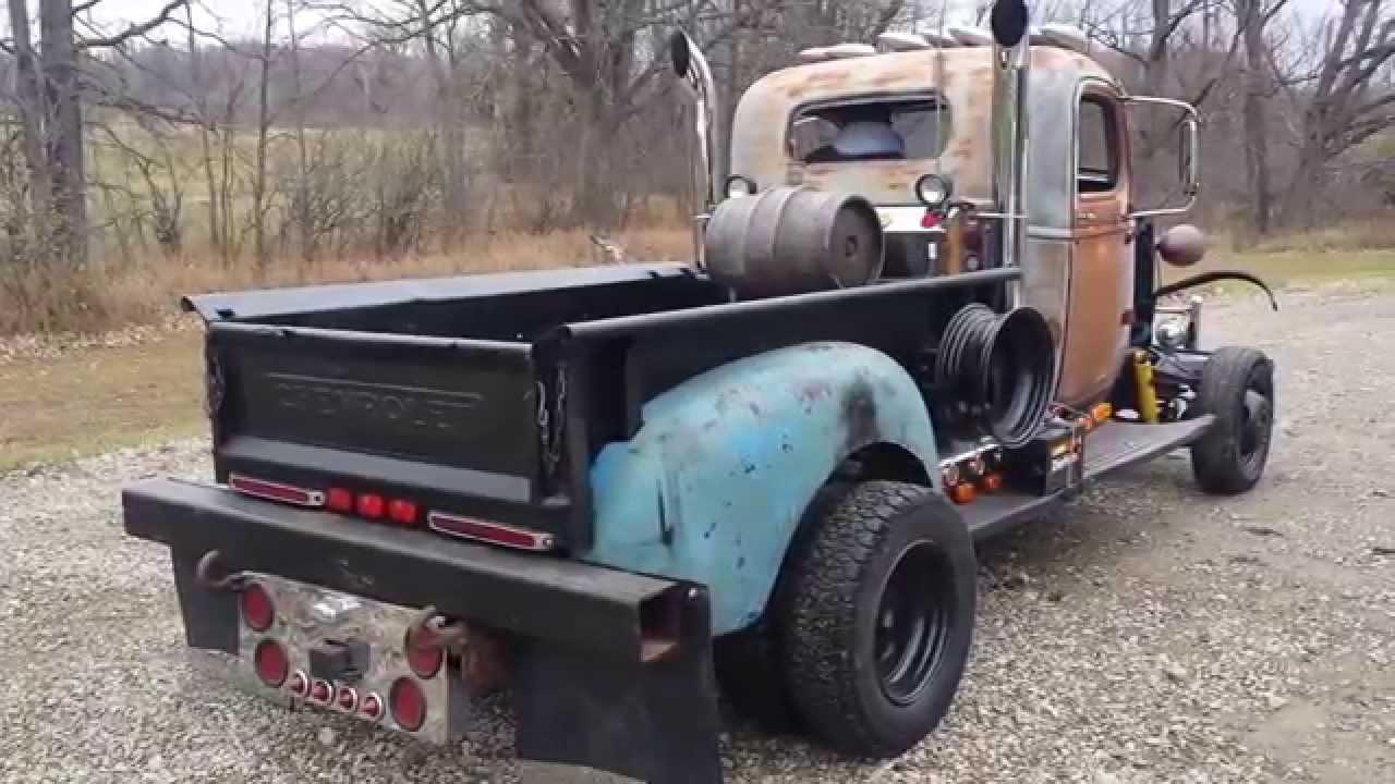 1940 Chevy 1-1/2 ton Dump Truck Rat Rod - YouTube
