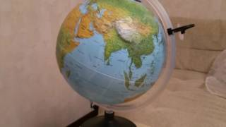 """Глобус физико-политический """"Uranio"""" с подсветкой, рельефный 0333UR"""