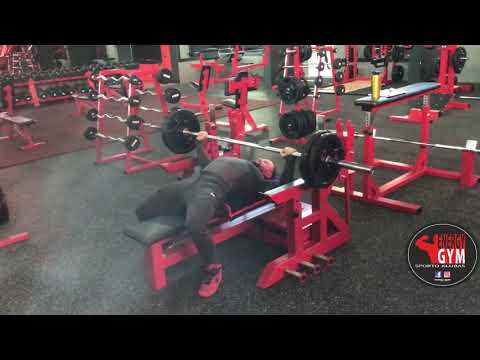 Bench press BW 81 kg + 10 kg = 90 kg x 23 reps