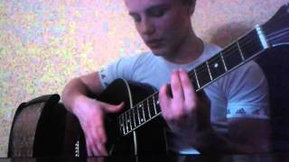 Бой Вахида Аюбова на гитаре разбор/обучение