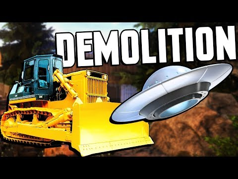 BULLDOZER vs UFO! Tearing Things Down With Heavy Machinery - Demolish & Build Company 2018 Gameplay