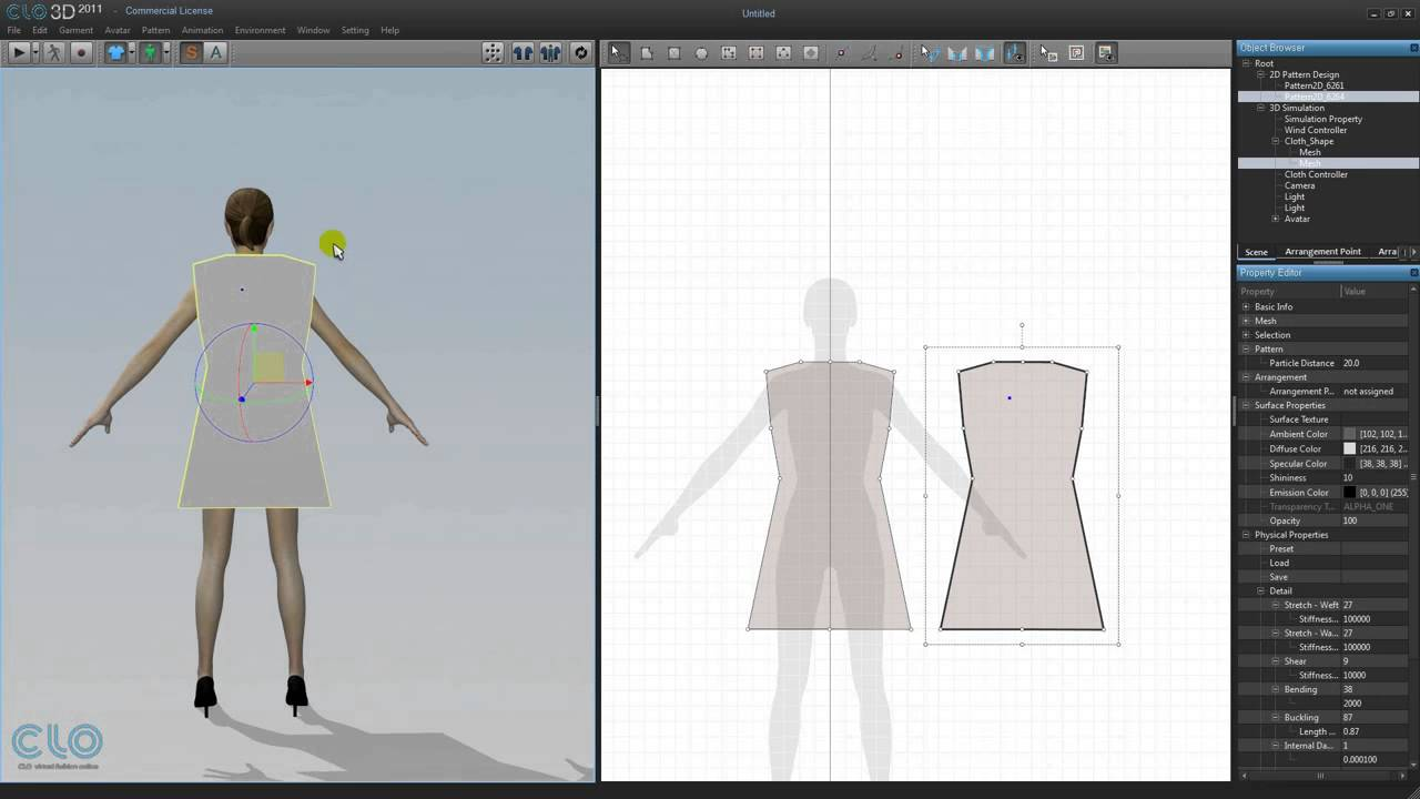 70 3D Clothing Learning Main Functions by Making Dress 2 Arranging Pattern